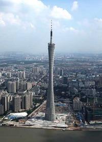 Башня в городе Гуанчжоу